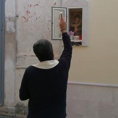 Canosa Edicola votiva Maria SS della Fonte Don Nicola Caputo