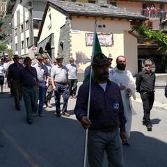 Valle d' Aosta Festa degli Alpini  con Don Salvatore Sciannamea