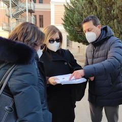 """Sindaco Morra in visita presso edificio  """"G. Mazzini"""" Canosa di Puglia"""
