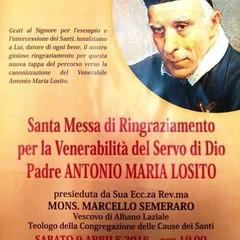 2016 Proclamazione Venerabilità di Padre Antonio Maria Losito