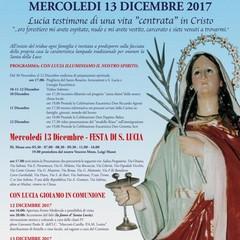 Programma della  Festa Santa Lucia 2017