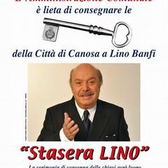 A Lino Banfi le chiavi della Città di Canosa di Puglia