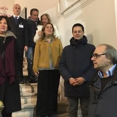 La Direttrice del Polo Museale Puglia Mariastella Margozzi e il sindaco Morra
