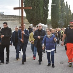 Canosa 2 Novembre 2019 pellegrinaggio interparrocchiale al Cimitero