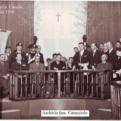 Aldo Moro a Canosa, 20/04/1958