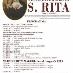 Festa Liturgica S.Rita Mercoledì 22 maggio 2019 - Canosa di Puglia
