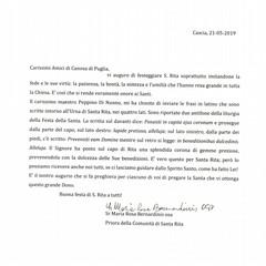 S.Rita Messaggio 2019 - Canosa di Puglia