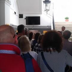 25 aprile 2018 Turisti al Museo Archeologico di Palazzo Sinesi Canosa