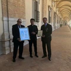 Loreto: Pres. Cosimo Di Ruggiero-Mons. Fabio Dal Cin - Cav. Franco Di Pinto