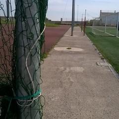 Rete salva pallone distrutta