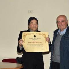 2019: Savino Losmargiasso premiato all'UTE dal presidente Trotta Sabino