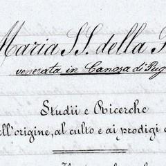 Maria SS Fonte  manoscritto