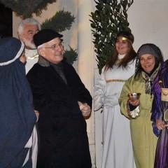 Mons. Luigi  Mansi alla XVI Edizione Presepe Vivente Canosa di Puglia
