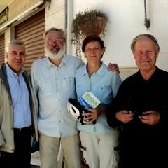 Turisti della Via Francigena con Don Raffaele Biancolillo e Maestro P.di Nunno
