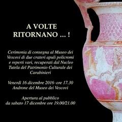 A volte rirnano...! Museo dei Vescovi -Canosa di Puglia(BT)