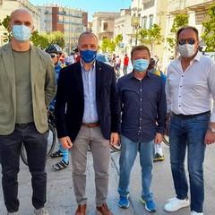 A Canosa: Cordiano Dagnoni(Presidente FCI) con Sanluca, Piccolo e Patruno
