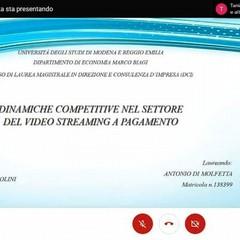 2021 Laurea on line per Antonio Di Molfetta