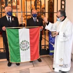 Canosa : Benedizione del  primo Tricolore di Reggio Emilia