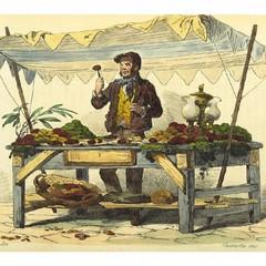 BOURCARD(1858) IL VENDITORE DI FICHI D'INDIA