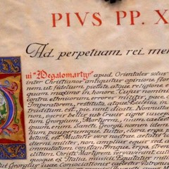 Breve Apostolico manoscritto S.Giorgio