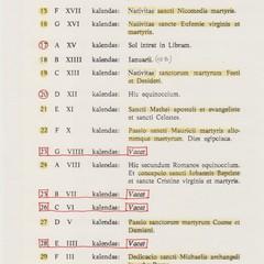 Calendario liturgico di Canosa