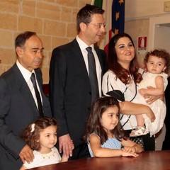 Roberto Morra con Famiglia