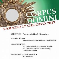 2017 Programma Solennità Corpus Domini