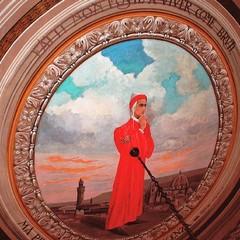 Canosa : Dante Alighieri. affresco  Buonvino
