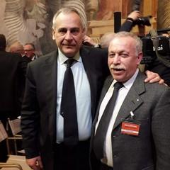 Nicola Di Nicoli con Lamberto Giannini Capo della Polizia