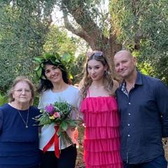 Romina Mazzotta e famiglia