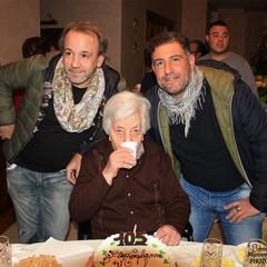 Nonna Lucia con Fernando Forino e Cosimo Bonavita