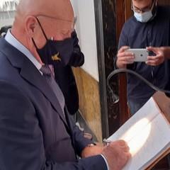 Il Generale di Squadra Aerea Pasquale Preziosa al Museo dei Vescovi Canosa