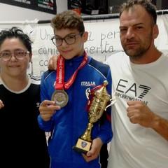 Danilo  Mastrorillo con i genitori Carmela Lomaestro e Michele Mastrorillo