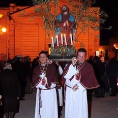 Canosa Venerdì Santo:Processione dei Misteri Gesù nell'Orto degli Ulivi