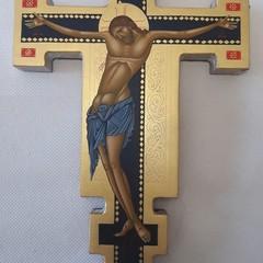 Icona Croce Blu Astile  Maddalena Strippoli