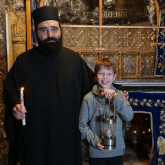 Il bambino austriaco Niklas a Betlemme