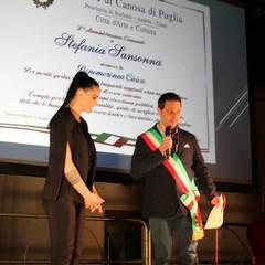 Sindaco Roberto Morra  e Stefania Sansonna