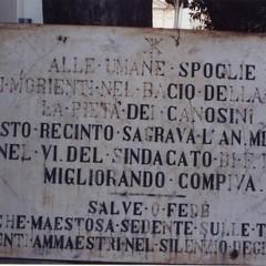 Lapide antico Camposanto