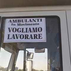 2021 Bari la protesta degli ambulanti