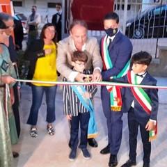 Canosa: inaugurazione  Bibliolab assessore Leo e sindaco Morra
