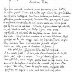 Lettera Bernadette 1