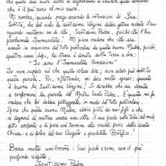 Lettera Bernadette 2