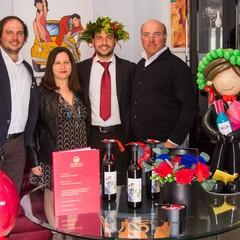Luigi Petroni con la famiglia
