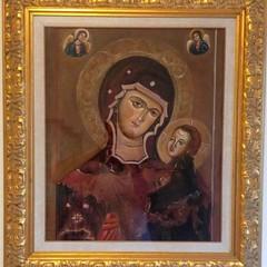 Maria SS. della Fonte, cm. 74 x 82, olio su tela, Prof.ssa Nunzia Di Nunno