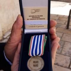 2021 Medaglia d'onore alla memoria di Manzi Felice