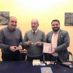 Antonio Michele Paradiso alla Pro Loco Canosa con Pansini e Marro