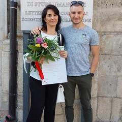 Romina Mazzotta e figlio Damiano Mangino
