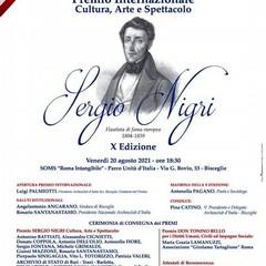 """2021 Bisceglie :Premio Internazionale Cultura Arte e Spettacolo """"Sergio Nigri"""""""