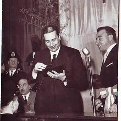 Targa d'oro per Aldo Moro - 20/04/1958