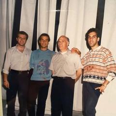 Tony Milano con il padre Agostino e i fratelli